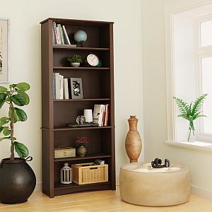 Prepac EDL-3277-K 6-shelf Bookcase, Espresso