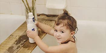 Foam Shampoo formulated for Cradle Cap Gentle daily cleanser for hair and scalp, tear-free