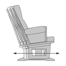 Our chairs have one of the most gentle and longest glides available on the market