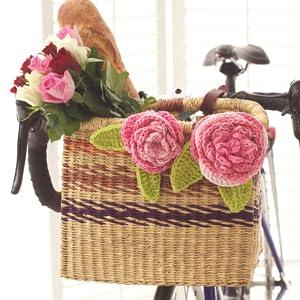pink flower knit lily sugarn n cream yarn