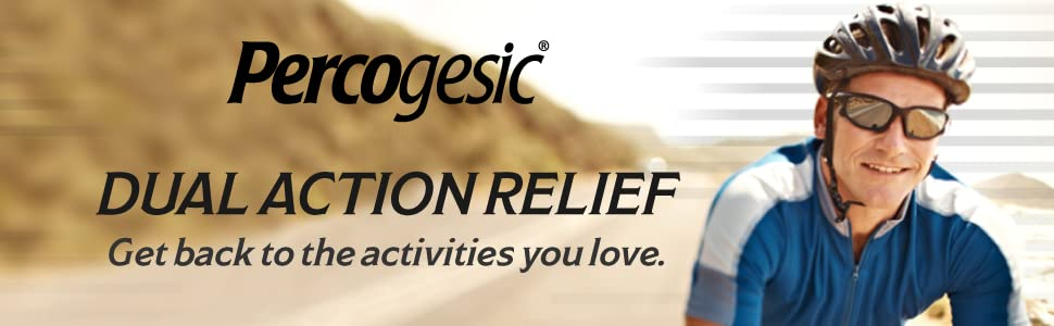 Percogesic | Dual Action Relief | Get back to the activities you love.