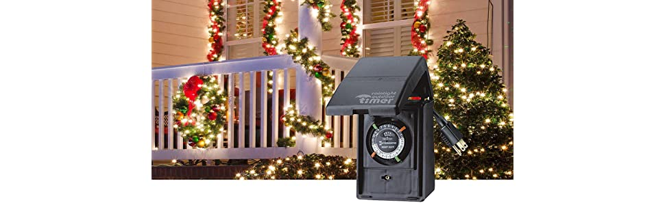 Christmas lights, Christmas tree timer, outdoor lights, outdoor christmas  lights, christmas - Intermatic P1121 Heavy Duty Outdoor Timer 15 Amp/1 HP For Pumps