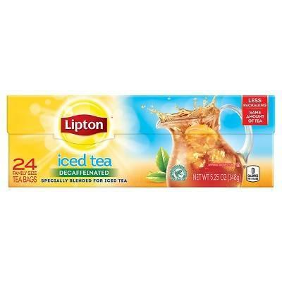 Lipton Family Black Iced Tea Bags Unsweetened