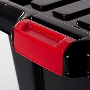 Boîte de rangement en plastique Power Box noir