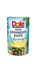 Dole 100% Juice, Pineapple, 46 Ounce Cans