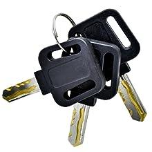 Laser Cut Brass Keys