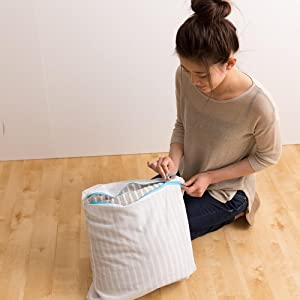 mofua natural 綿100% 肌になじむ 天竺ニット 布団カバーセットは、気軽にお洗濯OK
