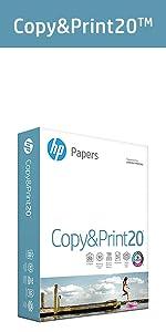 copy paper, HP paper, 8.5x11, printer paper, computer paper, white paper, 20lb, 92 bright