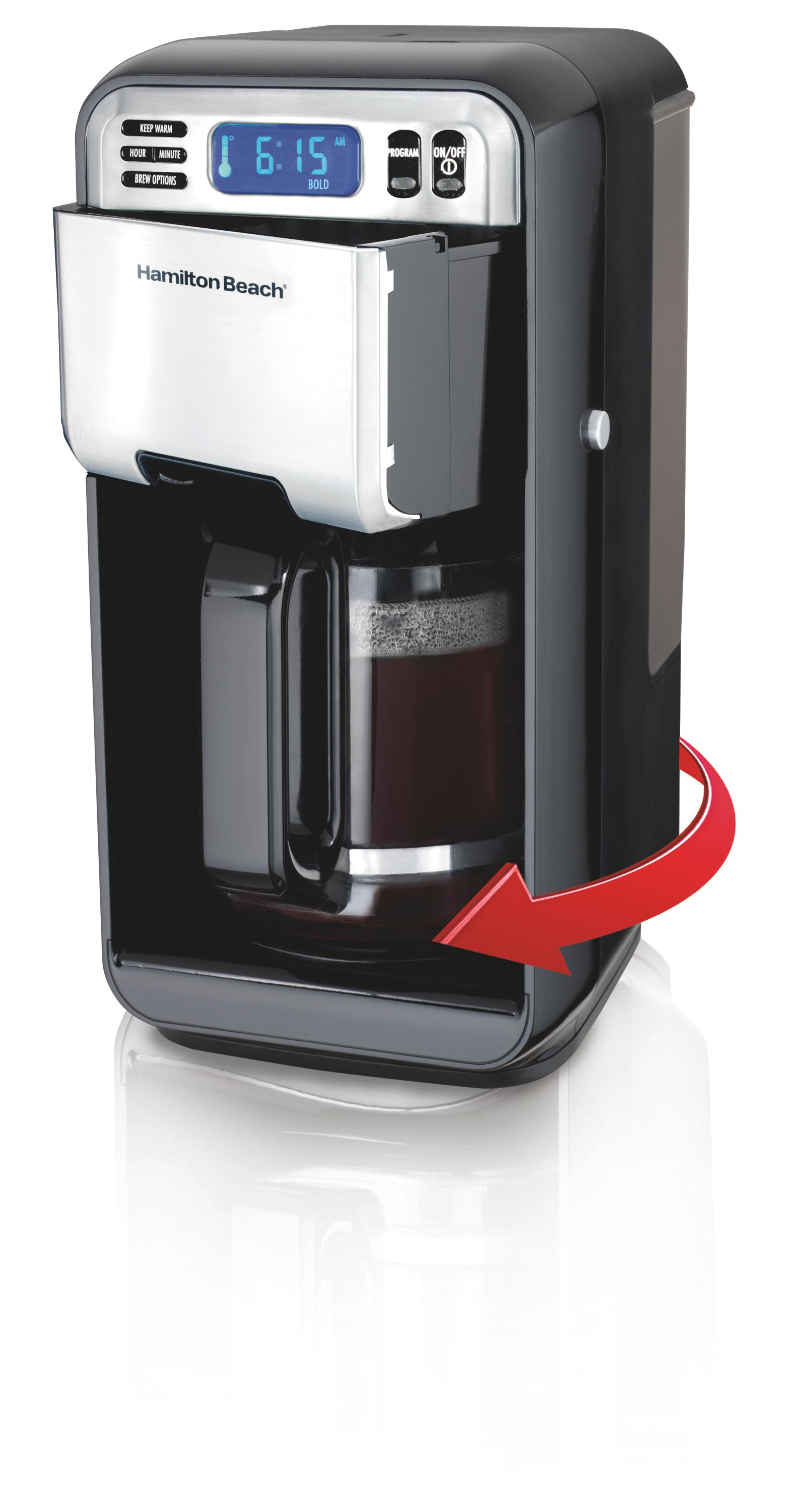 6 Cup Coffee Maker Programmable : Amazon.com: Hamilton Beach 46205 12-Cup Programmable Coffee Maker, Stainless Steel/Black ...