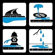 quickdam, quick dam, flood protection, flood barrier, flood bags, sand bags for flooding, sand bags