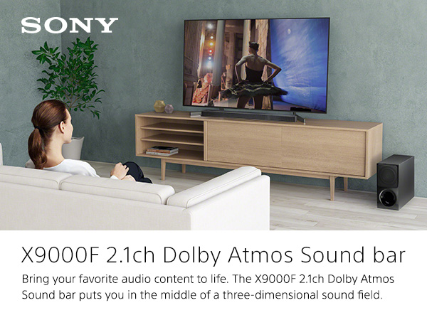 Sony X9000F 2 1ch Sound bar with Dolby Atmos and Wireless