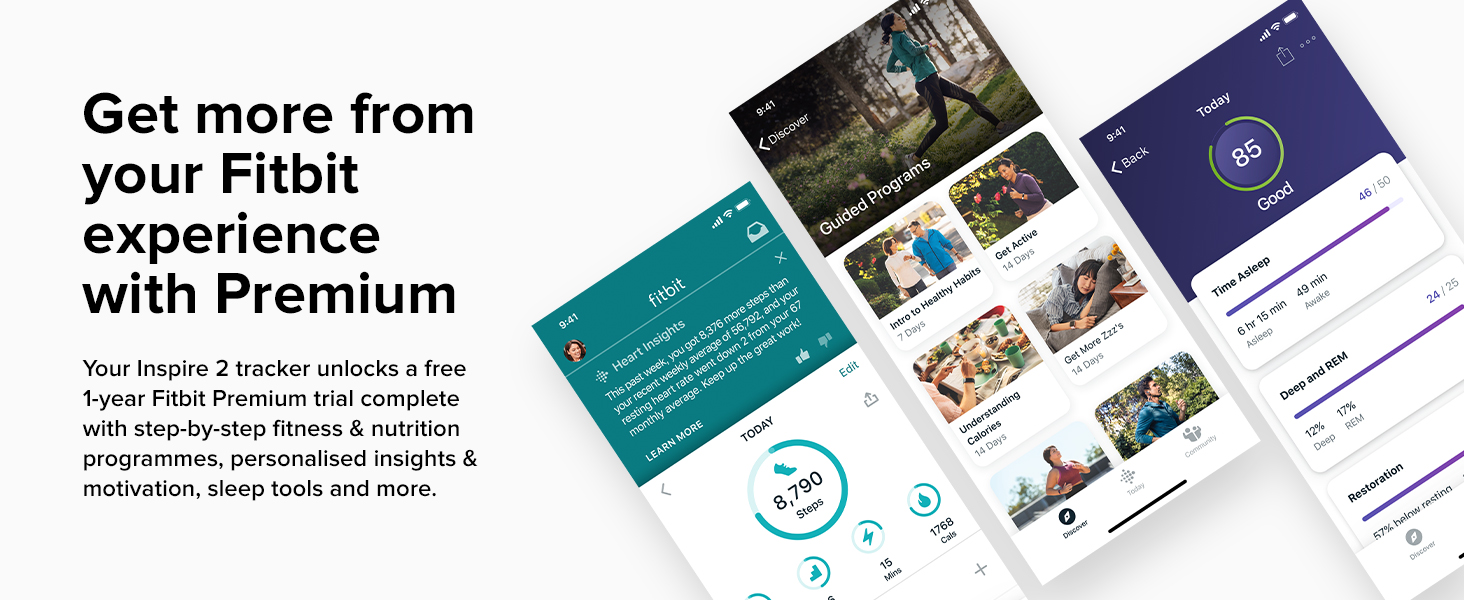 Fitbit Inspire 2 - Get more from your Fitbit experience with Premium