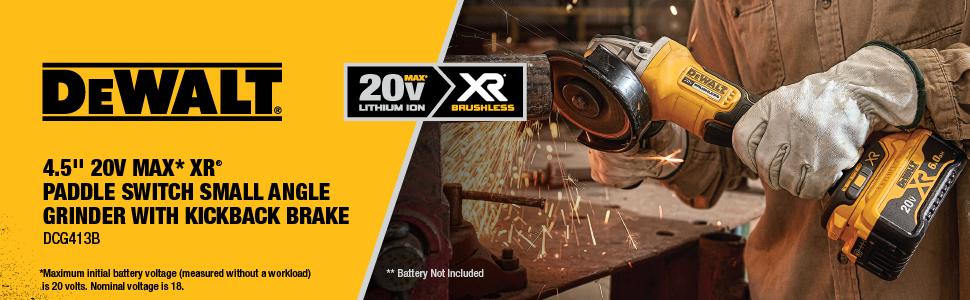 Dewalt Dcg413b 20v Max Brushless Cut Off Toolgrinder Tool Only. From The Manufacturer. Wiring. Br Tool Bench Grinder Wiring Diagram At Scoala.co