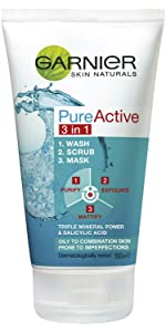 Pure Active 3 in 1 Wash, Scrub, Mask