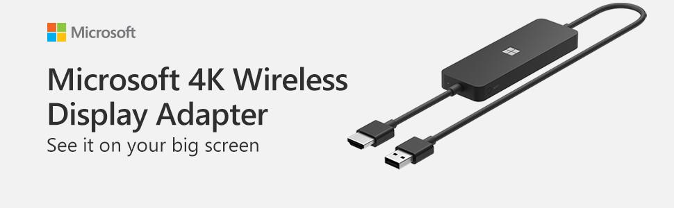 Miracast Adaptador inal/ámbrico Microsoft 4K Microsoft 4K Wireless Display Adapter