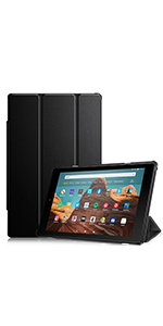 Kindle Fire hd 10 case 2017 2019 7th 9th generation screen protector leather cover