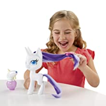 Mlp fim movie my little pony figure; buy best toys for sale under 20 dollars; purple white rarity