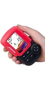 portable fishfinder, fish finder, hawkeye fishtrax fishfinder, ice sonar, ice fishfinder, depth