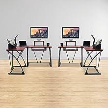 aca-cdk-3k khole activiva mbeat home office computer gaming wooden desk work station
