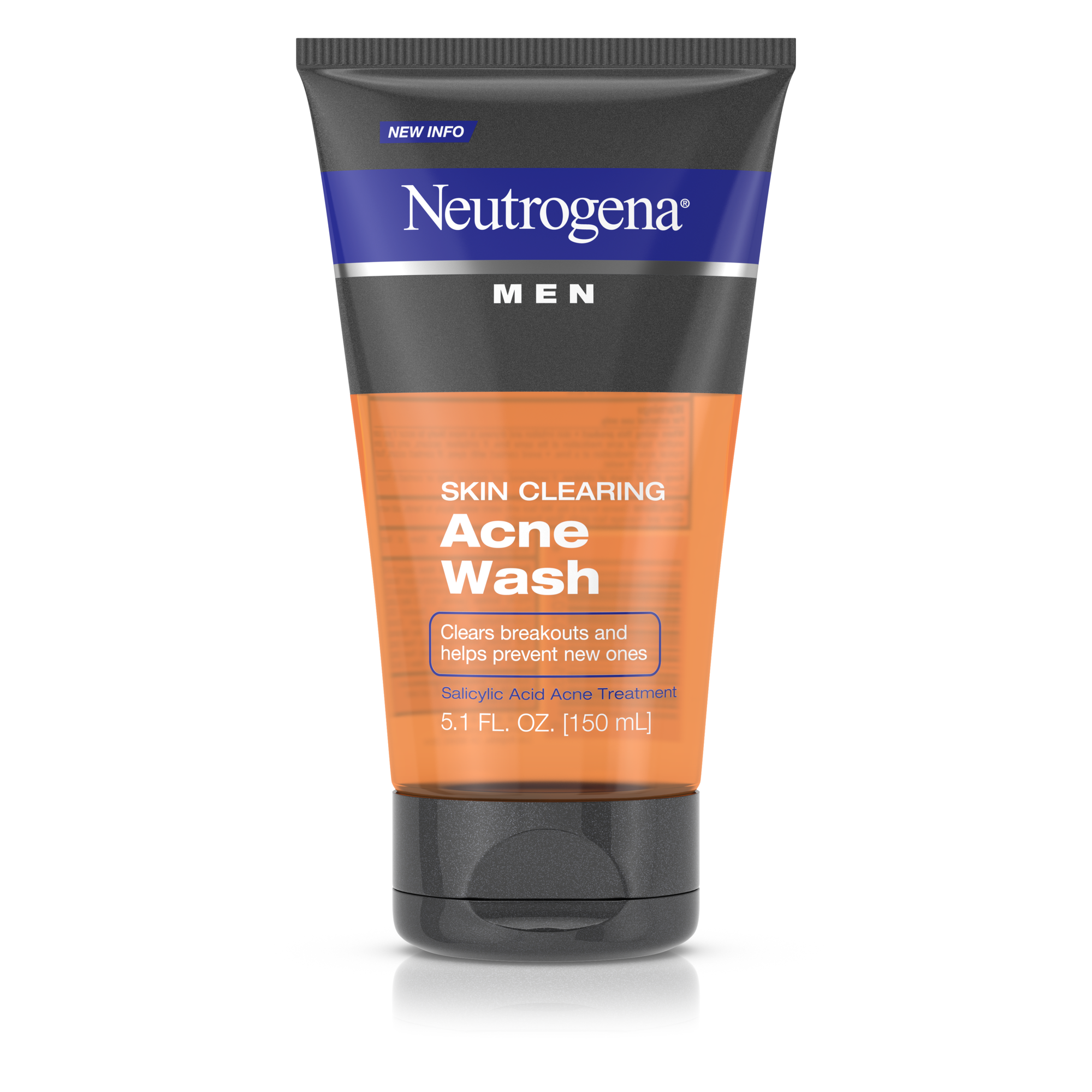 Neutrogena Men Skin Clearing Daily Acne Face Wash with Salicylic Acid Acne  Treatment,