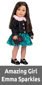 """Girl, Doll, for, Dolls, Outfit, Set, accessories, 18"""", 18-inch, Clothes, inch, Brown, Crafts, girls"""