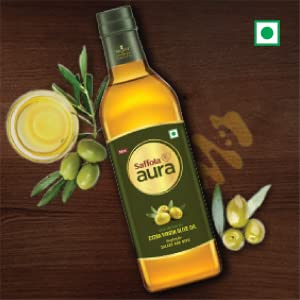 saffola aura,extra virgin,olive oil for cooking,extra virgin oil,olive oil for cooking,olive oil in