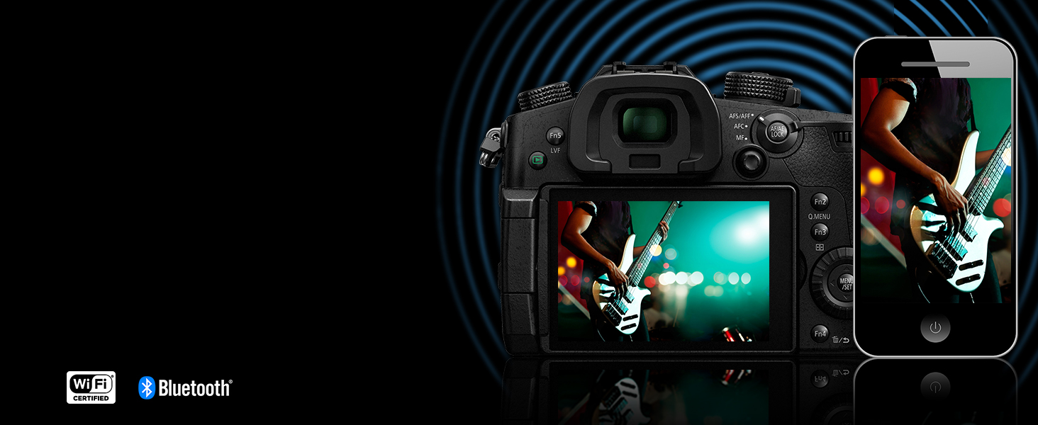LUMIX DC-GH5BODY Bluetooth and wi-fi capabilities