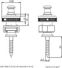 S-Lock S-LOCKS シャーラー ロックピン ストラップ ピン ロック 固定 SCHALLER 正規品 ギター エレキ ベース アコースティック アコギ