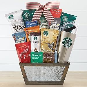 Starbucks Coffee and Teavana Tea Holiday Gift Basket