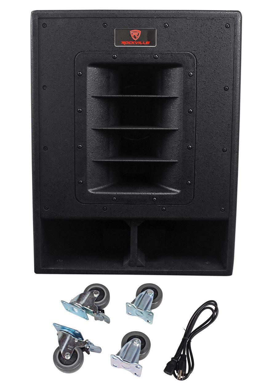 rockville rbg15fa 15 2400w active powered pro subwoofer folded horn pa dj sub. Black Bedroom Furniture Sets. Home Design Ideas