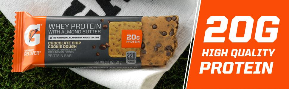 Amazon Com Gatorade Whey Protein With Almond Butter Bars