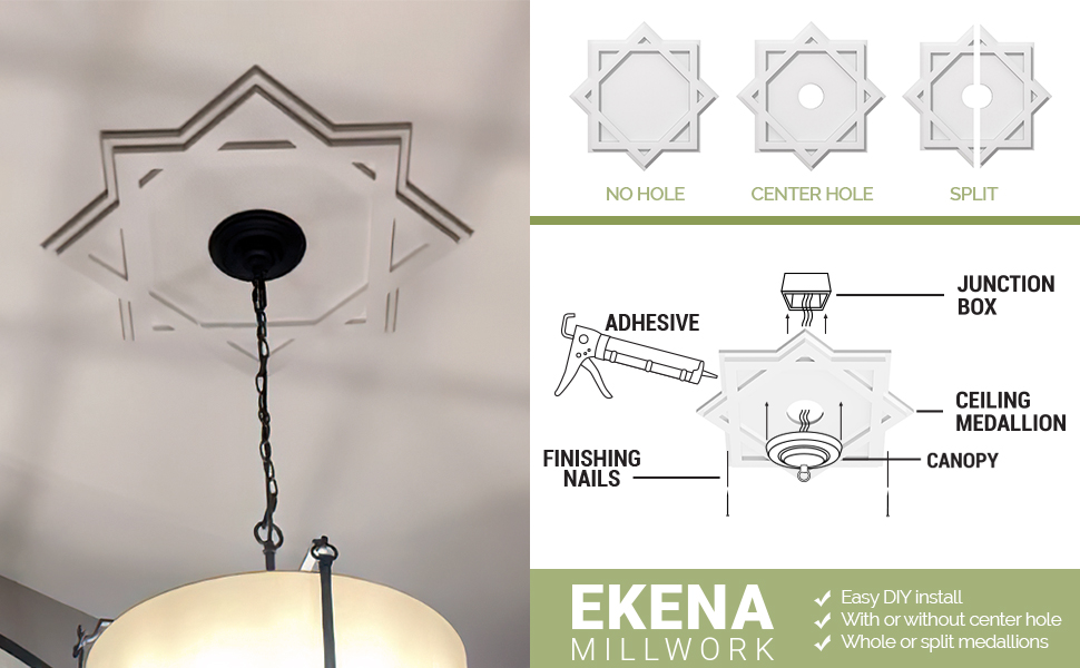 easy install ceiling medallions