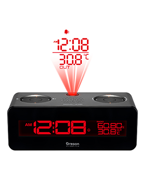 Oregon Scientific RRA320PNX radio reloj proyector, con radio FM ...