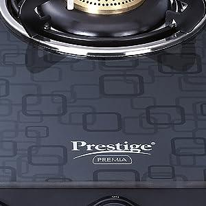 Prestige Premia GTS 2 (D) Glass Top Stove, Black SPN-FOR1