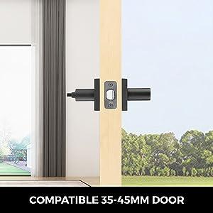 lever door handle with lock 5 pack