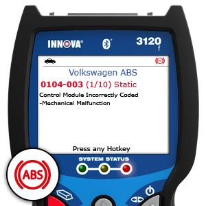 Innova 3120 BLUETOOTH Check Engine Code Reader Scan Tool with ABS
