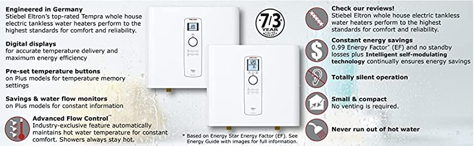 Self-modulating energy technology & Advanced Flow Control for more comfort using less electricity