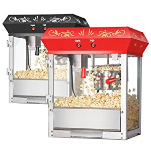 gnp foundation popcorn machine 4 oz popcorn popper 4 ounce top red or black - Popcorn Poppers