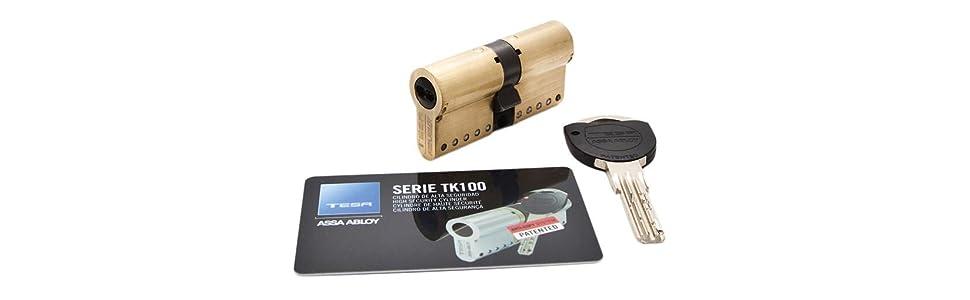 Cilindro Tesa; Cilindro de alta seguridad; TK100; Cilindro seguridad patentado