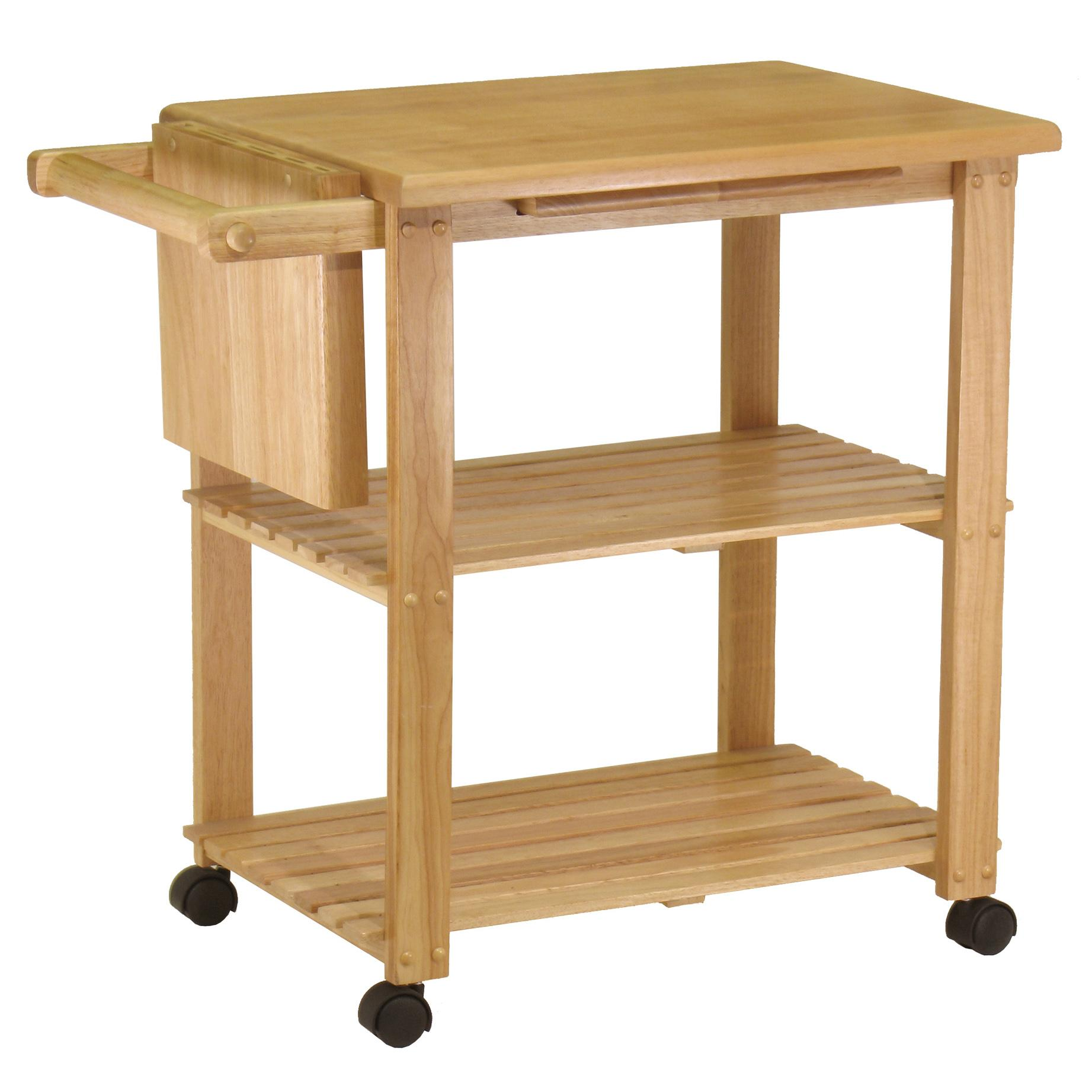Winsome wood utility cart natural kitchen islands carts Kitchen utility island