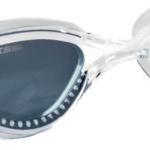 Cressi Flash - Gafas de Natación con Cristales Independientes, Anti Empañante y Anti UV, Transparente/ Lila