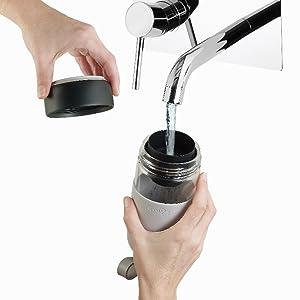 Lékué Botella para Agua, Coral, para 1 Persona: Amazon.es: Hogar