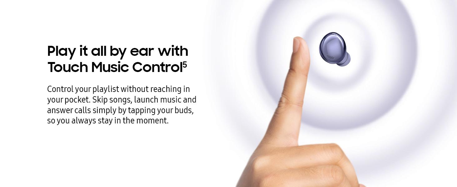 Samsung Galaxy Buds Pro, wireless headphones, wireless earbuds, touch control