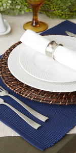 cloths woven theme waterproof thanksgiving piece marble silver charger runners chargers top covers