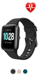 Amazon.com: Letsfit Smart Watch, Fitness Tracker with Heart ...