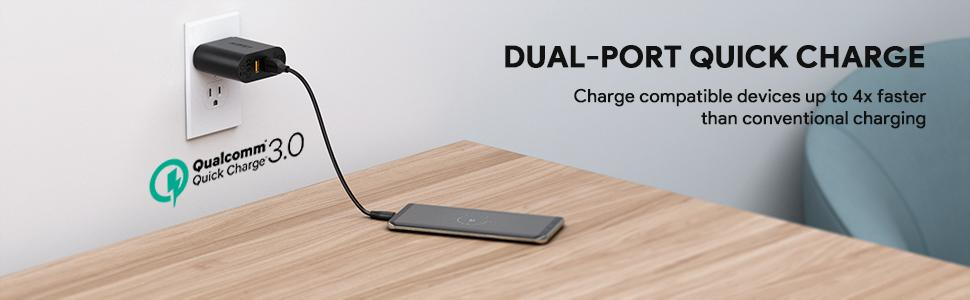 Amazon.com: Aukey Cargador de pared USB con Dual Carga ...