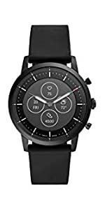 Amazon.com: Fossil Mens Sport Heart Rate Metal and Silicone ...