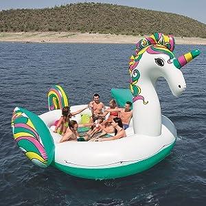 Bestway - Isla Gigante Unicornio 590x404cm 43228: Amazon.es: Juguetes y juegos