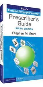 stahl's essential psychopharmacology prescriber's guide book cover