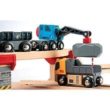 BRIO World - 33210 Rail & Road Loading Set